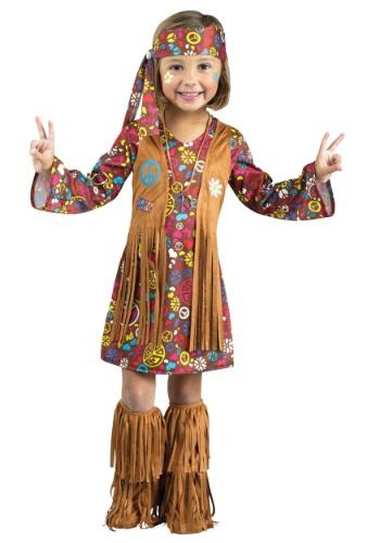 Disfraz de hippie de paz y amor para niños pequeños