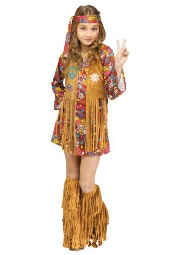 Disfraz infantil hippie amor y paz