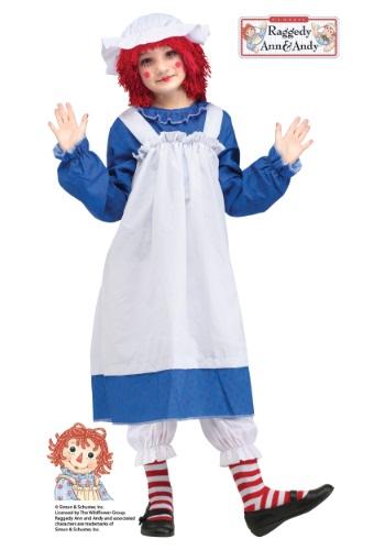 Disfraz infantil clásico de Raggedy Ann