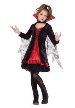 Disfraz infantil de chica vampiro