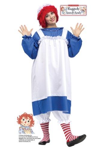 Disfraz de Raggedy Ann para adulto talla extra