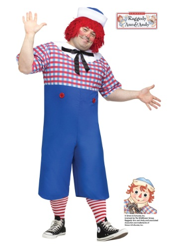 Disfraz de Raggedy Andy para adulto talla extra