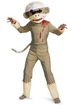Disfraz de mono de calcetín para niños