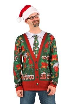 Cárdigan feo de la Navidad de los hombres