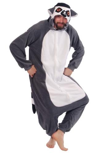 Disfraz de pijama de lémur para adulto