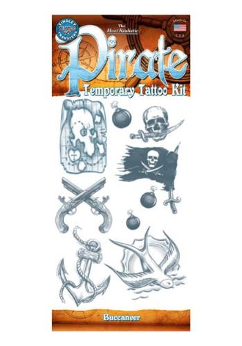 Kit de tatuajes temporales de pirata bucanero
