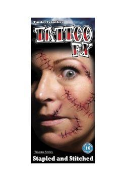 Kit de tatuajes temporales de grapado y cosido