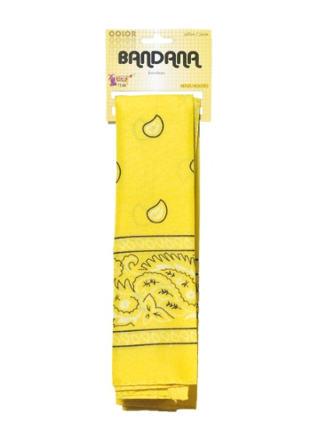 Pañuelo para la cabeza amarillo