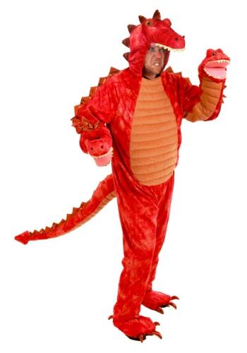 Disfraz de Dragón Rojo Hydra para adulto