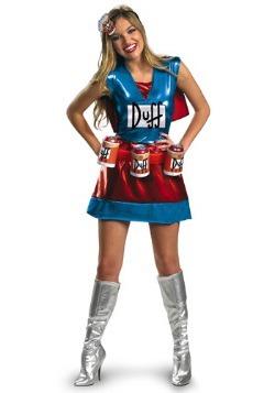 Disfraz de mujer Duff sexy