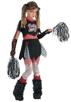Disfraz de porrista gótica para niños