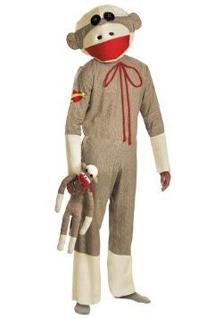 Disfraz de mono calcetín para adulto