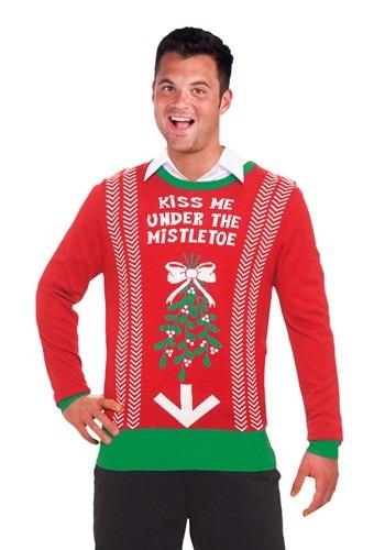 Bésame debajo del muérdago Navidad suéter