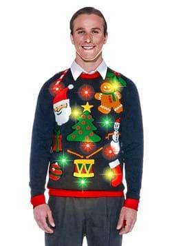 Todo el suéter iluminado de Navidad