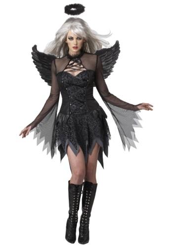 Disfraz de ángel caído para mujer talla extra
