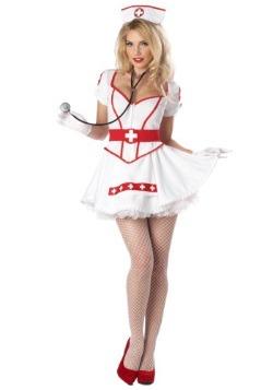 Disfraz de enfermera rompecorazones para mujer talla extra