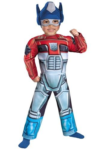 Disfraz de bote de rescate de Optimus Prime niños pequeños
