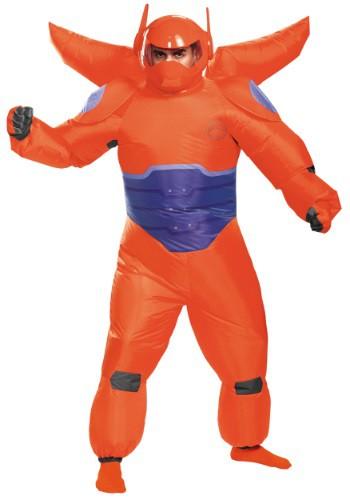 Disfraz inflable de Baymax rojo para adulto