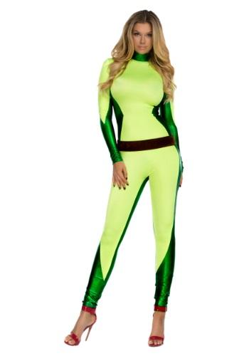 Frente Catsuit superhéroe para mujer