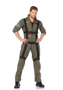 Disfraz mameluco de Top Gun con arnés para hombre