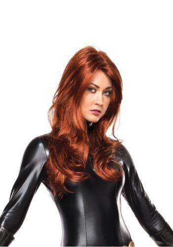 Peluca de lujo de Black Widow para adulto