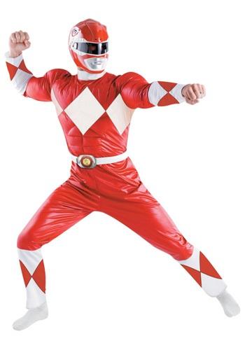 Disfraz de Power Ranger Rojo deluxe para adulto