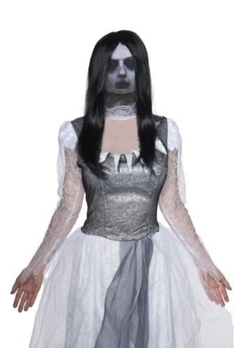 Máscara de fantasma de tela para adulto
