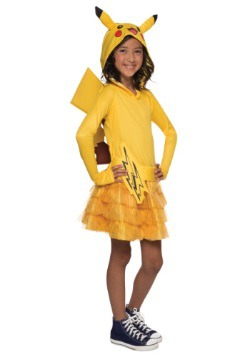 Vestido con capucha para niñas de Pikachu