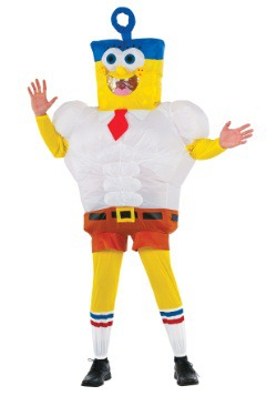 Disfraz de película de Spongebob inflable adulto