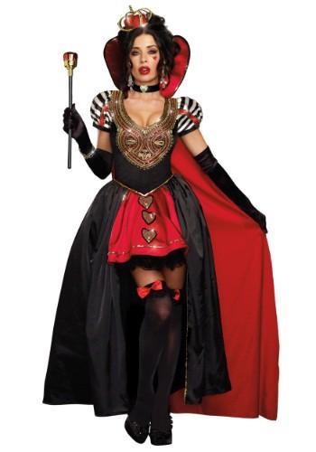 Disfraz de Reina de Corazones con capa para adulto