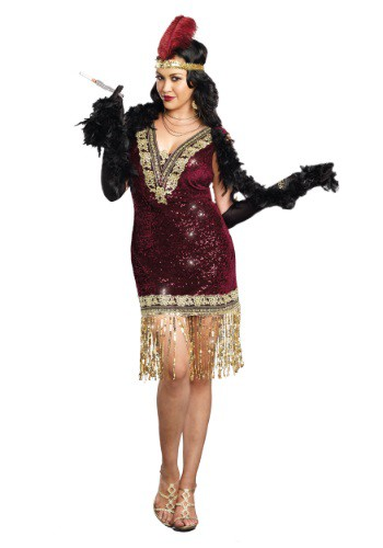 Disfraz de mujer sofisticada con solapa talla extra