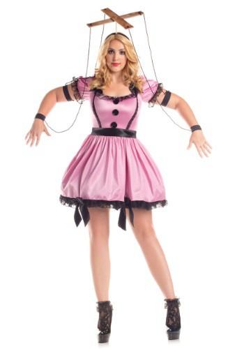 Disfraz para mujer de Marionette rosa talla Plus