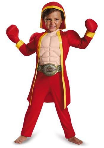 Disfraz de boxeador musculoso para niños pequeños