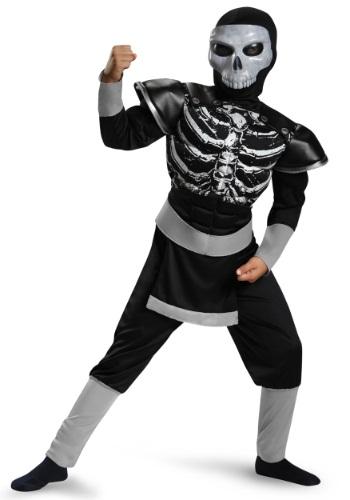 Disfraz de esqueleto ninja musculoso para niño