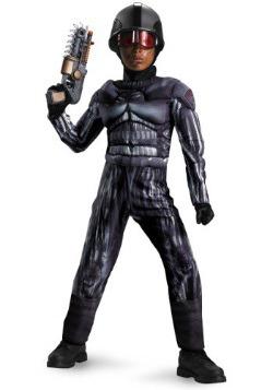 Disfraz musculoso clásico de Exo SWAT para niño