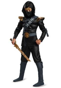 Disfraz negro de ninja musculoso clásico para niño