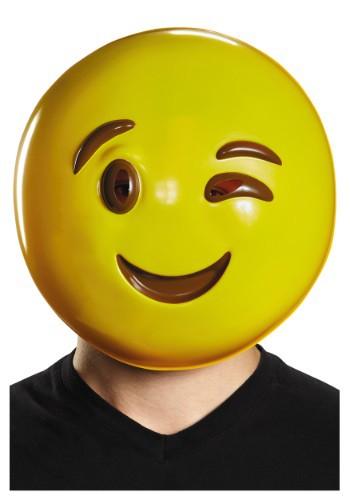 Máscara de guiño de emoticono para adulto