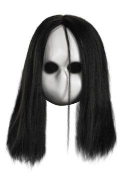Máscara de muñeca ojos negros en blanco para adulto
