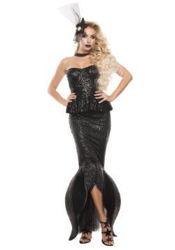 Disfraz de sirena negra para mujer