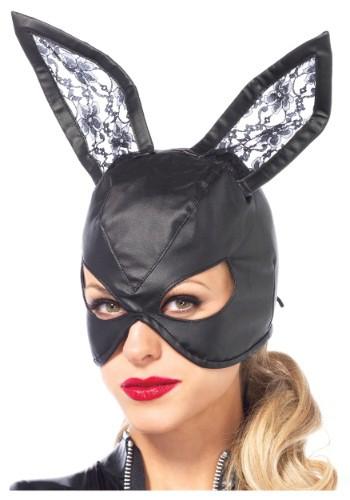 Máscara de conejito de cuero sintético