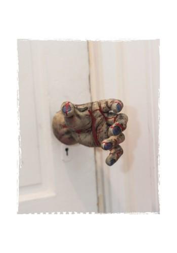 Cubierta para perilla de puerta de mano de zombi