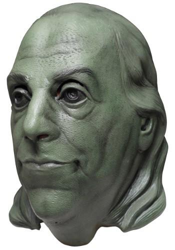 Máscara de Benjamin Franklin verde para adulto