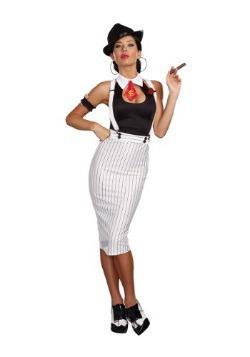 Disfraz de mujer de gángster de trabajo sucio
