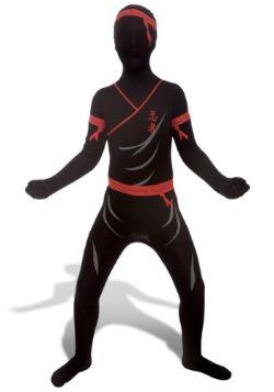 Morphsuit de Ninja rojo y negro para niños