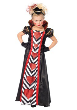 Disfraz de Reina del País de las maravillas para niñas