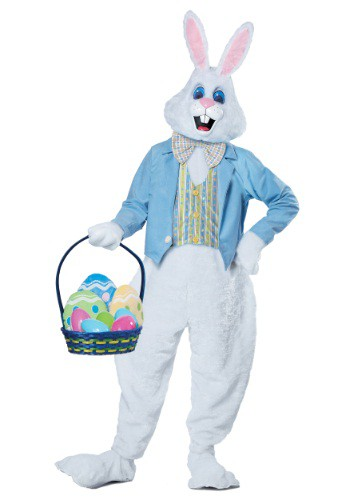 Disfraz de conejito de Pascua deluxe para adulto