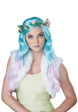 Peluca de fantasía floral para mujer