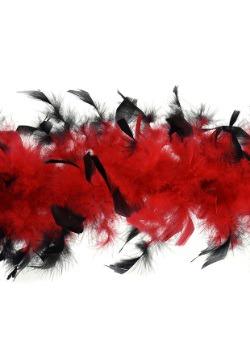 Boa roja de peso medio con puntas negras