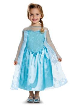 Disfraz clásico de Elsa de Frozen para niños pequeños