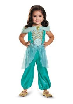Disfraz de Jasmín clásico para niños pequeños